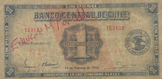 Autographs: EDWARD M. PURCELL - CURRENCY SIGNED CIRCA 1942