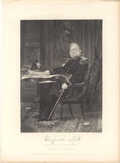 LT. GENERAL WINFIELD SCOTT - STEEL ENGRAVING UNSIGNED