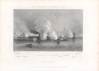 CIVIL WAR: MONITOR - STEEL ENGRAVING UNSIGNED