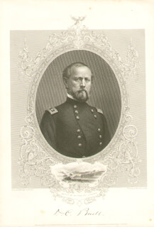 MAJOR GENERAL DON CARLOS BUELL - STEEL ENGRAVING UNSIGNED