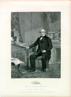 Autographs: CHIEF JUSTICE SALMON P. CHASE - STEEL ENGRAVING UNSIGNED
