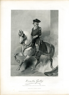 MAJOR GENERAL HORATIO GATES - STEEL ENGRAVING UNSIGNED