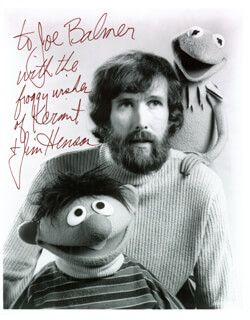 JIM HENSON - AUTOGRAPHED INSCRIBED PHOTOGRAPH