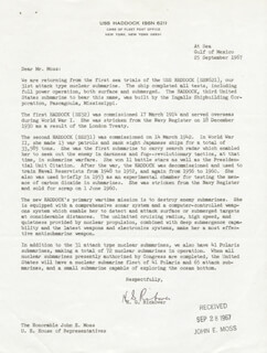 ADMIRAL HYMAN G. RICKOVER - TYPED LETTER SIGNED 09/25/1967