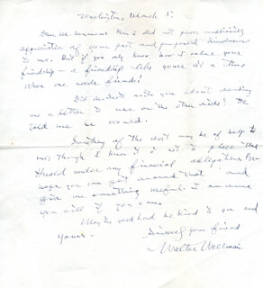 WALTER WELLMAN - AUTOGRAPH LETTER SIGNED 3/5