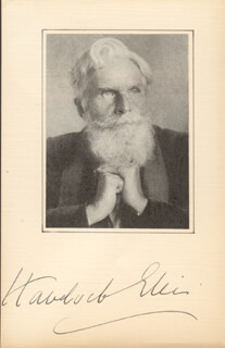 HAVELOCK HENRY ELLIS - PHOTOGRAPH MOUNT SIGNED