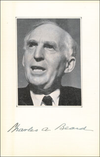 Autographs: CHARLES A. BEARD - PHOTOGRAPH MOUNT SIGNED