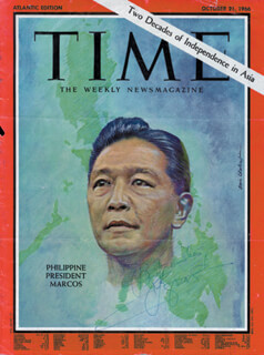 Autographs: PRESIDENT FERDINAND E. MARCOS (PHILIPPINES) - MAGAZINE COVER SIGNED