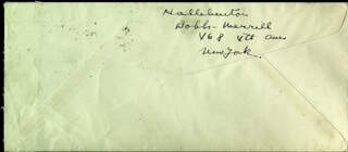 RICHARD HALLIBURTON - AUTOGRAPH ENVELOPE SIGNED