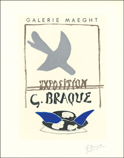 GEORGES BRAQUE - PRINTED ART SIGNED IN PENCIL
