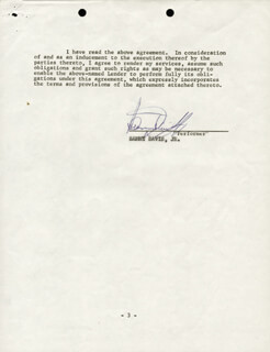 SAMMY DAVIS JR. - CONTRACT SIGNED