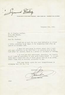 SIGMUND ROMBERG - TYPED LETTER SIGNED 11/06/1950