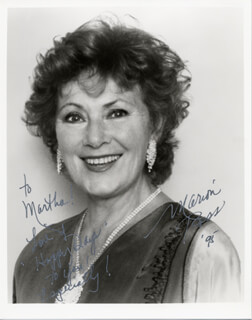 MARION ROSS - AUTOGRAPHED INSCRIBED PHOTOGRAPH 1995