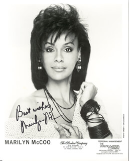 MARILYN McCOO - PRINTED PHOTOGRAPH SIGNED IN INK