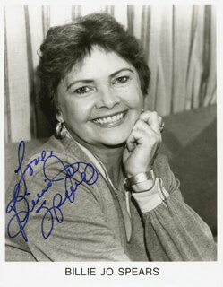 BILLIE JO SPEARS - INSCRIBED PRINTED PHOTOGRAPH SIGNED IN INK