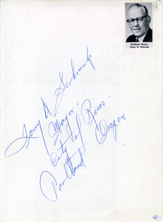 TERRY SCHRUNK - AUTOGRAPH NOTE SIGNED CO-SIGNED BY: JUDY BARTON