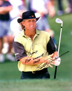 GREG THE SHARK NORMAN - AUTOGRAPHED INSCRIBED PHOTOGRAPH