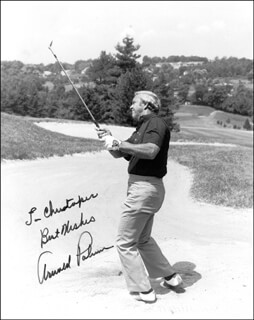 ARNOLD PALMER - AUTOGRAPHED INSCRIBED PHOTOGRAPH