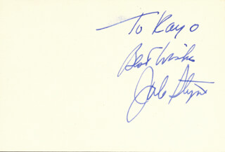 JULE STYNE - AUTOGRAPH NOTE SIGNED