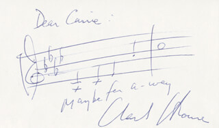 CHARLES STROUSE - INSCRIBED AUTOGRAPH MUSICAL QUOTATION SIGNED