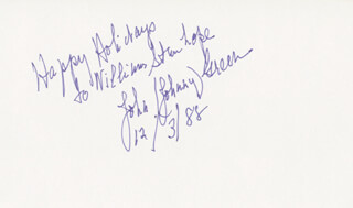JOHNNY GREEN - AUTOGRAPH NOTE SIGNED 12/03/1988