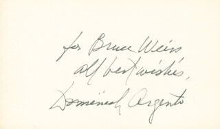 DOMINICK ARGENTO - AUTOGRAPH NOTE SIGNED