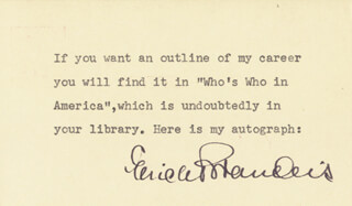 ERICH BRANDEIS - TYPED NOTE SIGNED CIRCA 1953