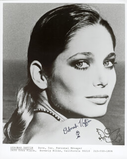 DEBORAH RAFFIN - PRINTED PHOTOGRAPH SIGNED IN INK