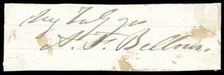 ALBERT F. BELLOWS - AUTOGRAPH
