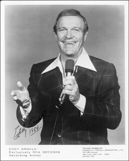 EDDY ARNOLD - AUTOGRAPHED SIGNED PHOTOGRAPH 1984