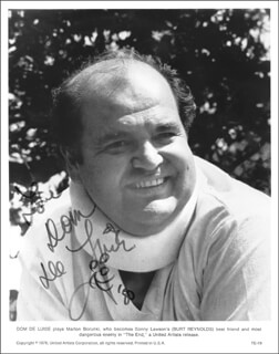 DOM DELUISE - AUTOGRAPHED SIGNED PHOTOGRAPH 1980