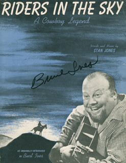 BURL IVES - SHEET MUSIC SIGNED