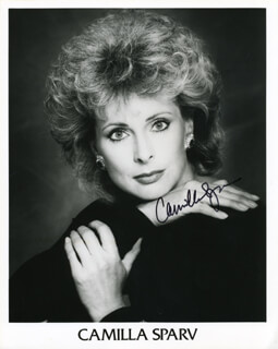 CAMILLA SPARV - AUTOGRAPHED SIGNED PHOTOGRAPH