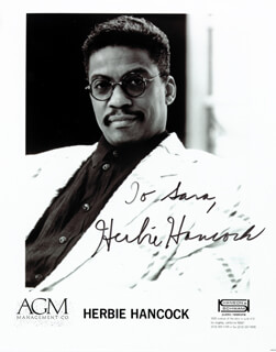 HERBIE HANCOCK - AUTOGRAPHED INSCRIBED PHOTOGRAPH