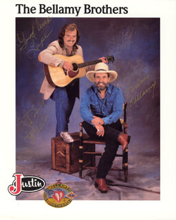 THE BELLAMY BROTHERS - INSCRIBED ADVERTISEMENT SIGNED CO-SIGNED BY: THE BELLAMY BROTHERS (DAVID BELLAMY), THE BELLAMY BROTHERS (HOWARD BELLAMY)