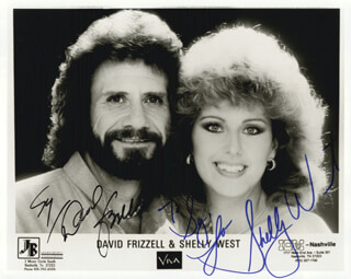 DAVID FRIZZELL - INSCRIBED PRINTED PHOTOGRAPH SIGNED IN INK CO-SIGNED BY: SHELLY WEST
