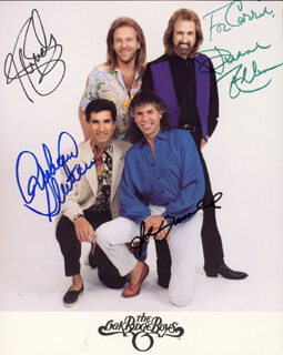OAK RIDGE BOYS - AUTOGRAPHED INSCRIBED PHOTOGRAPH CO-SIGNED BY: OAK RIDGE BOYS (DUANE ALLEN), OAK RIDGE BOYS (JOE BONSALL), OAK RIDGE BOYS (STEVE SANDERS), OAK RIDGE BOYS (RICH STERBAN)