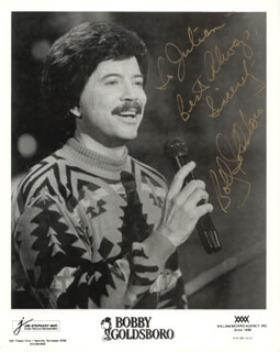 BOBBY GOLDSBORO - AUTOGRAPHED INSCRIBED PHOTOGRAPH