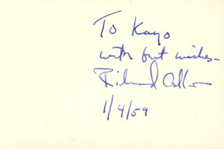 RICHARD ADLER - AUTOGRAPH NOTE SIGNED 01/04/1959