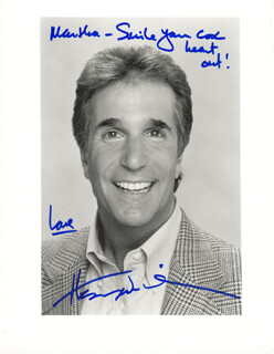 HENRY THE FONZ WINKLER - AUTOGRAPHED INSCRIBED PHOTOGRAPH