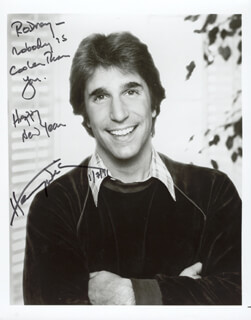 HENRY THE FONZ WINKLER - AUTOGRAPHED INSCRIBED PHOTOGRAPH 01/07/1991