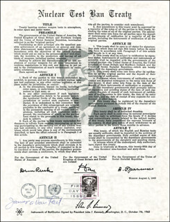 GENERAL JAMES A. VAN FLEET - COMMEMORATIVE SHEET WITH FIRST DAY CANCELLATION CIRCA 1964