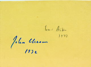 Autographs: CONRAD AIKEN - SIGNATURE(S) 1972 CO-SIGNED BY: JOHN CHEEVER