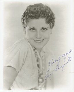 LINA BASQUETTE - AUTOGRAPHED SIGNED PHOTOGRAPH