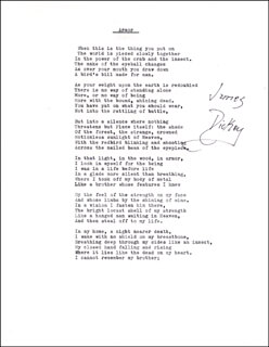 JAMES DICKEY - POEM SIGNED