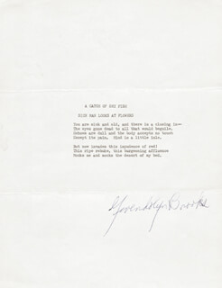 Autographs: GWENDOLYN BROOKS - TYPESCRIPT SIGNED