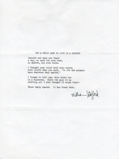 Autographs: WILLIAM STAFFORD - TYPESCRIPT SIGNED