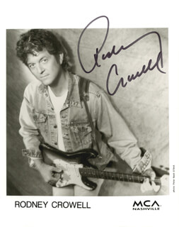 RODNEY CROWELL - AUTOGRAPHED SIGNED PHOTOGRAPH
