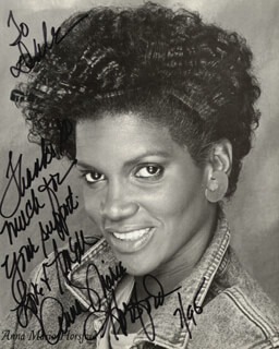 ANNA MARIA HORSFORD - AUTOGRAPHED INSCRIBED PHOTOGRAPH 07/1995