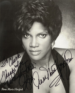 ANNA MARIA HORSFORD - AUTOGRAPHED INSCRIBED PHOTOGRAPH